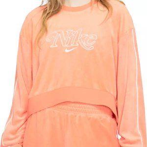 nike sportswear terry cloth cropped sweatshirt